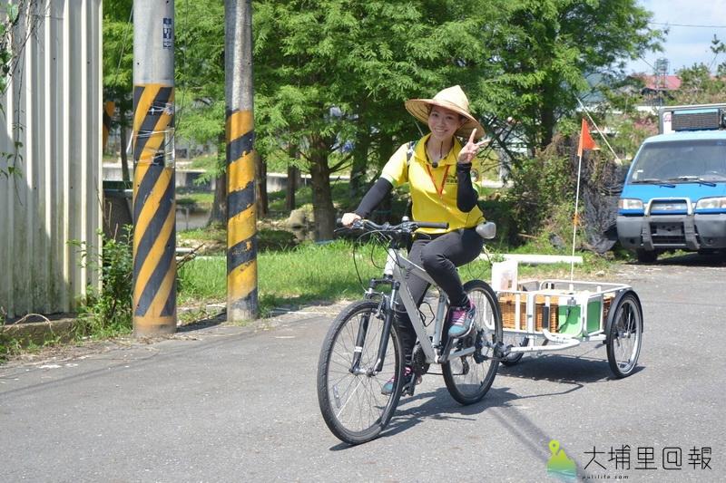 共享單車經營範例,單車結合觀光導覽,如順騎自然的餐車旅行。(陳巨凱 攝)