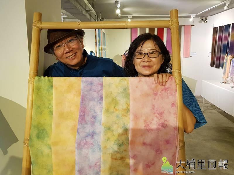 陳景林、馬毓秀夫婦心中有著殷切的希望,要讓已經斷了80多年的台灣染織文化,能再度復甦活化。(廖嘉展 攝)