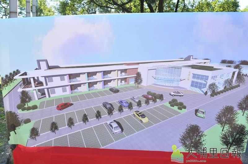 台中榮民總醫院埔里分院投入新台幣1億9000萬元,新建地上2層樓、總數200床長照大樓。(柏原祥 翻攝)