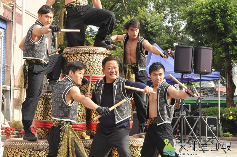 埔里鎮公所將於16日舉辦森巴踩街活動,戊己劇團鼓隊也將參與。(柏原祥 攝)