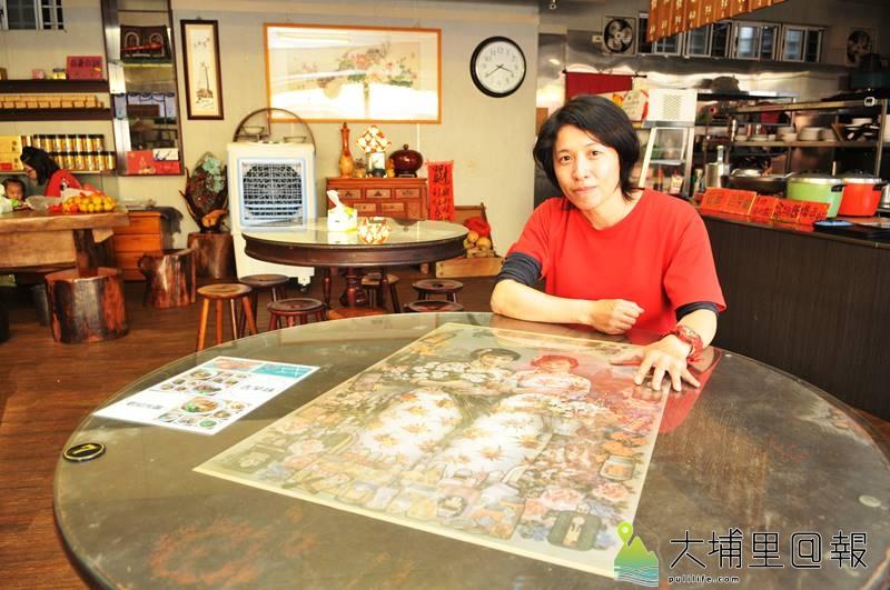 滿食堂老闆黃筱倩不到40歲,但他喜愛懷舊風,店內所賣的小吃也多是古早味。(柏原祥 攝)