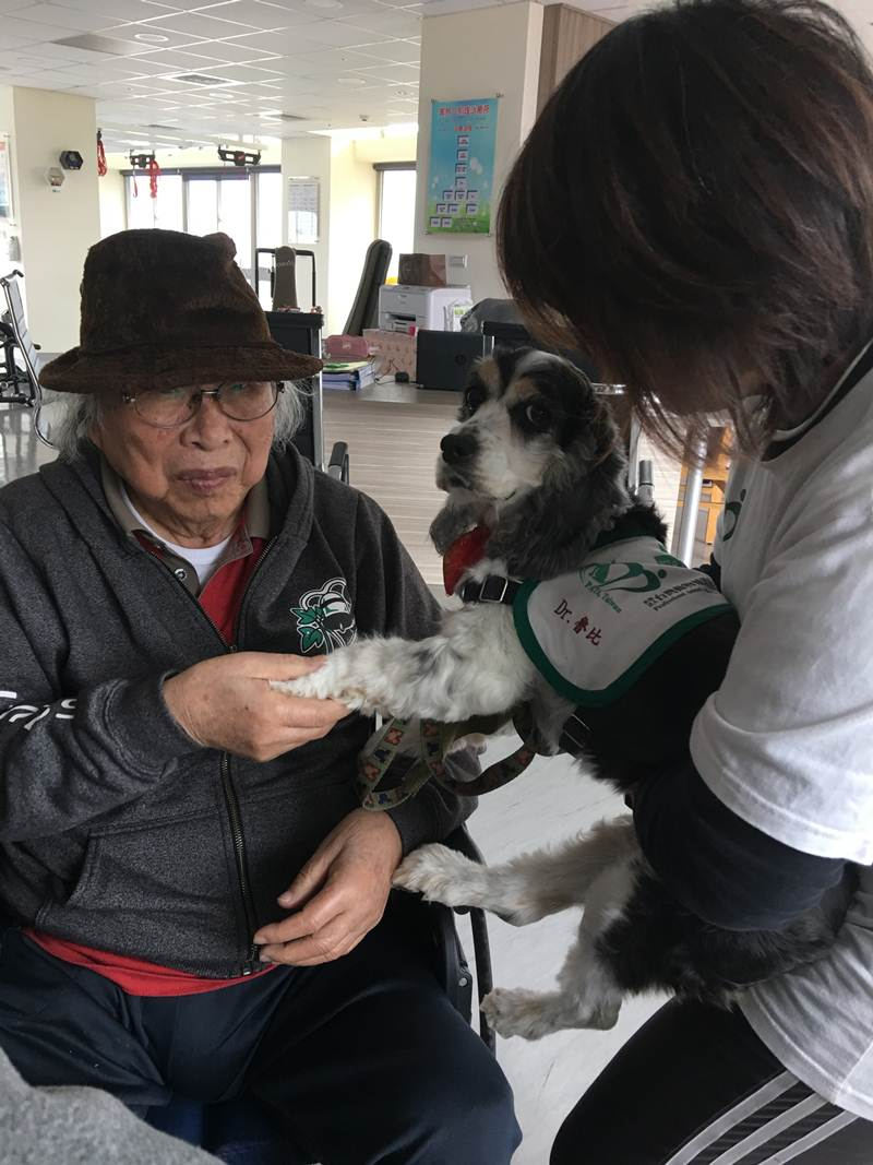 萌萌噠的治療犬魯比相當討人喜歡。(唐茹蘋 攝)