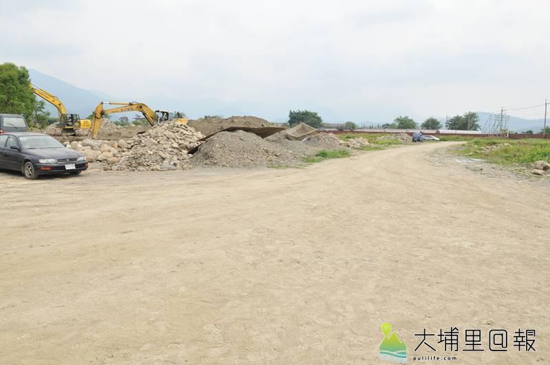 埔里地方特色產業微型園區基地開發工程廣達5公頃,目前進度完成14.28%。(柏原祥 攝)