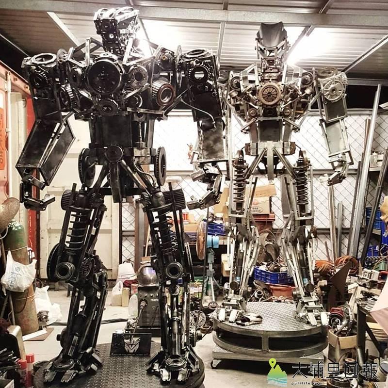 鋼鐵藝術家梁乃元最新一批「機甲獵人」系列作品。(圖/梁乃元提供)