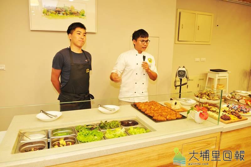 陳允中雖然年僅26歲,但料理經驗豐富,即將至AIT擔任廚師之際,他與W飯店的前輩在埔里鎮辦一場自助餐會。(柏原祥 攝)