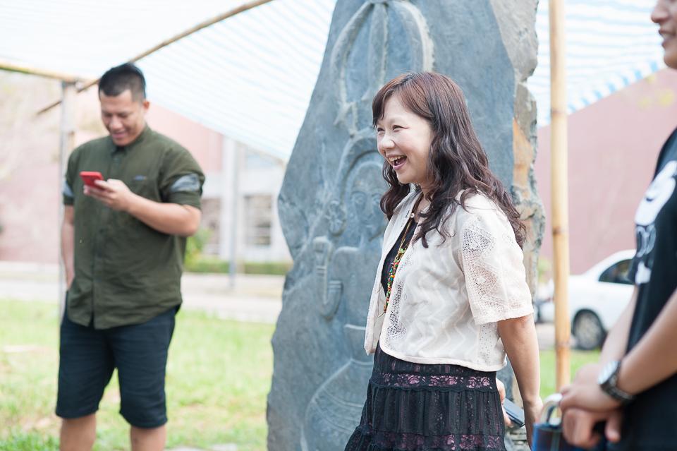 暨大原住民專班主任邱韻芳提醒學生,要記得自己是部落的孩子,謙遜地去親近部落的土地和在土地上生活的族人們(張智凱攝)
