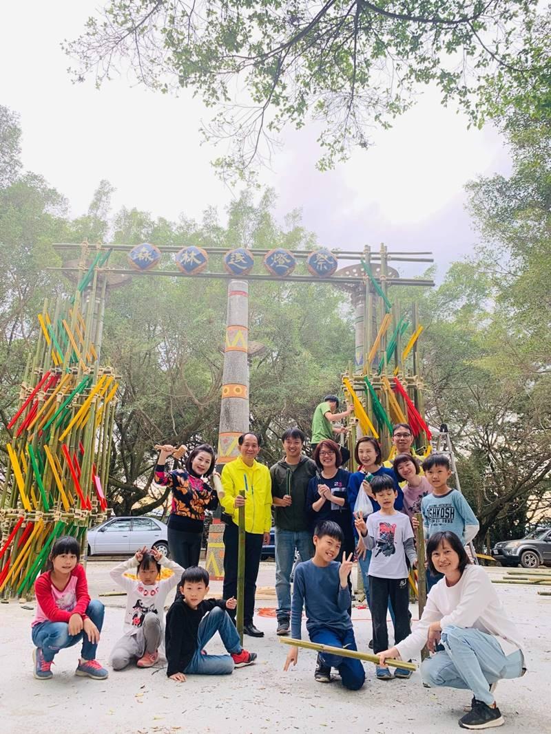 埔里鎮公所與在地青年團隊合作,要在地理中心舉辦「森林逐燈祭」。(圖/陳巨凱提供)