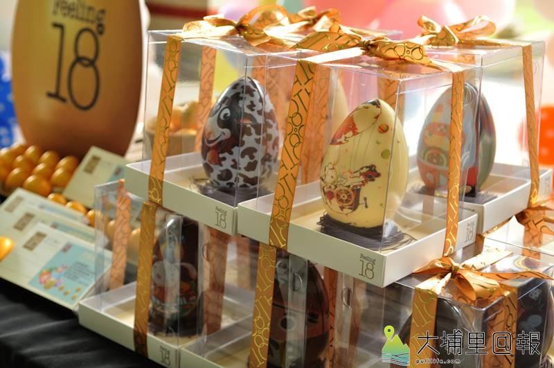 230顆金蛋藏在埔里鎮小學校園裡,小朋友只要找到,就能換取Feeling 18復活節巧克力彩蛋。(柏原祥 攝)