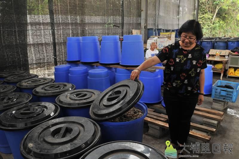 埔里鎮公所向環保署爭取4800萬元,將設置高效廚餘處理場,圖為預定廠房,目前為廚餘回收場。(柏原祥 攝)