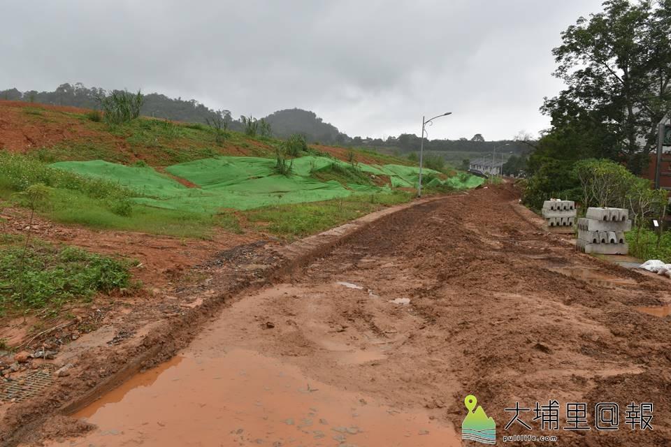埔里鎮新埔里鎮社區住戶遭泥水入侵,住戶指出,珠仔山大型住宅開發建案未做好水保是造成災害的禍首。(柏原祥 攝)