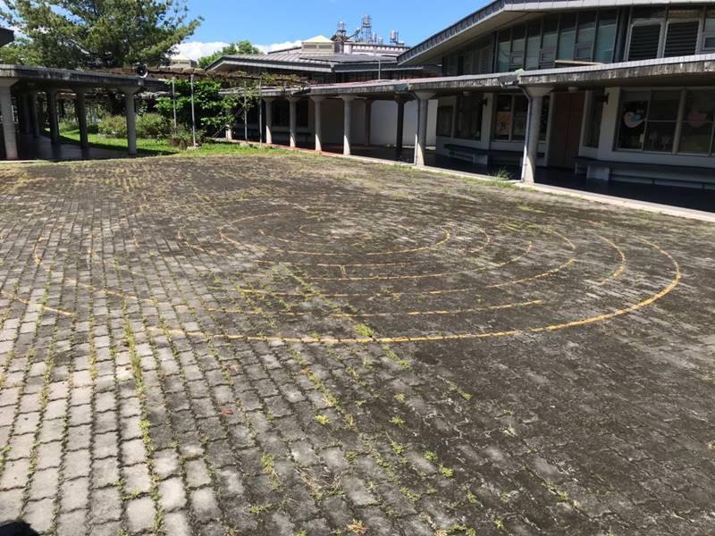 埔里育英國小校園特色遊具規劃場地。